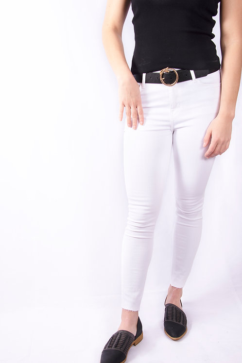Raw Cut White Jeans