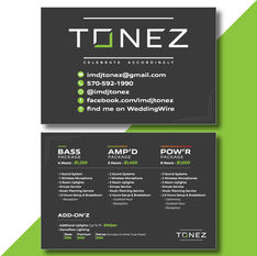 DJ Tonez Entertainment Packages