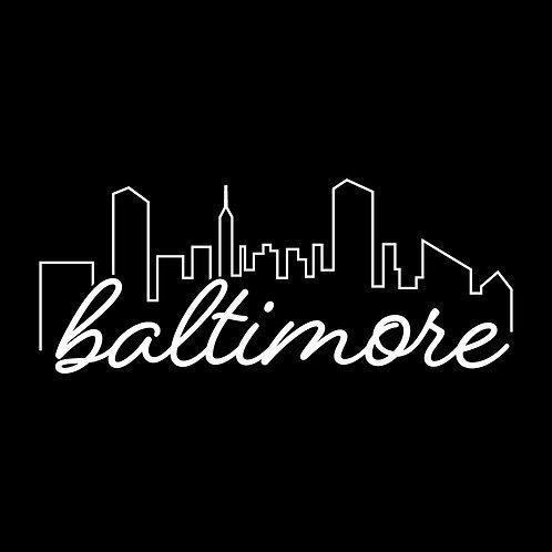 Baltimore Skyline Decal