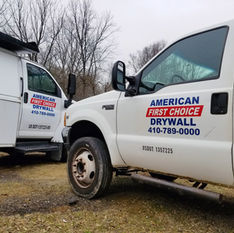 American First Choice Drywall Trucks