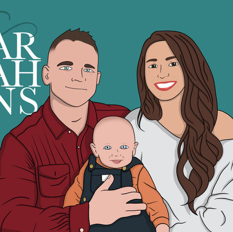 Family Portrait Illustrations