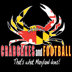 Crabcakes and Football T-Shirt Design