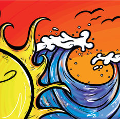 Beach Vibes Illustration