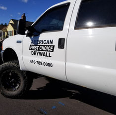 American First Choice Drywall Truck