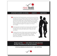 Red Ball Consultants Flyer Design