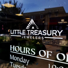 Little Treasury Jewelers Door Decal