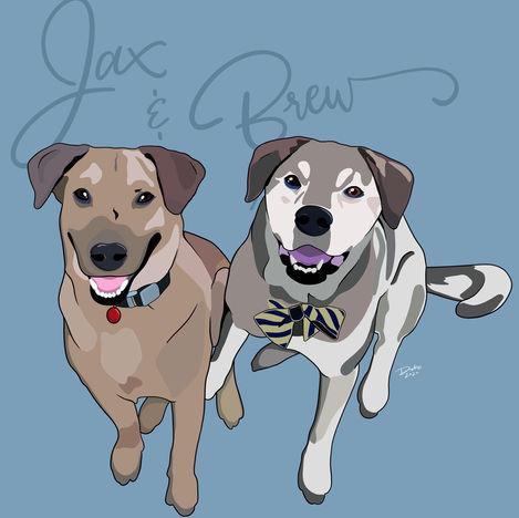 Jax & Brew Digital Illustration