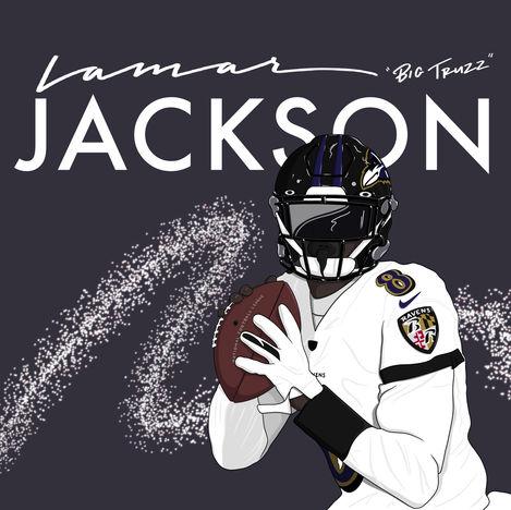 Lamar Jackson Illustration