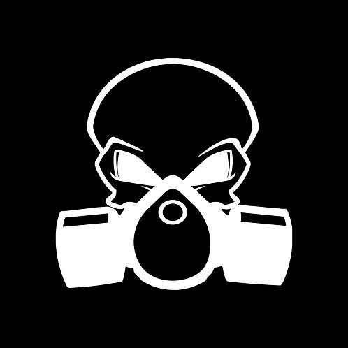 Gas Mask Skull Decal