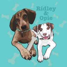 Custom Dog Portrait Illustration