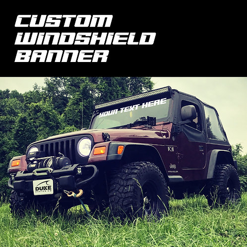 Custom Windshield Banner Decal