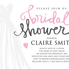 Bridal Shower Invitation Design