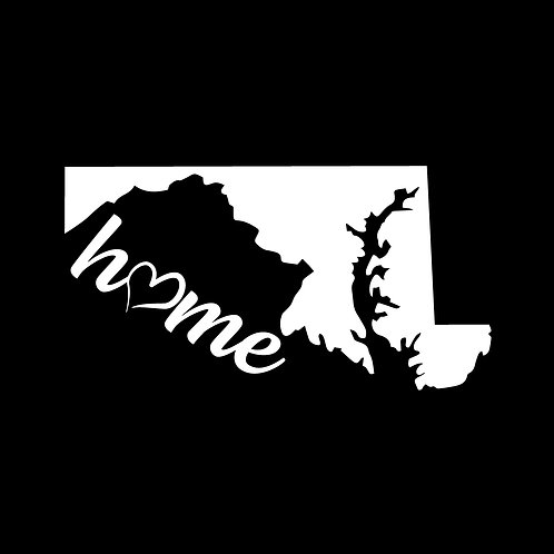 Maryland Home Decal