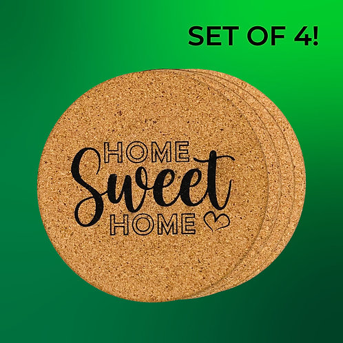 4-PC. Cork Coaster Set