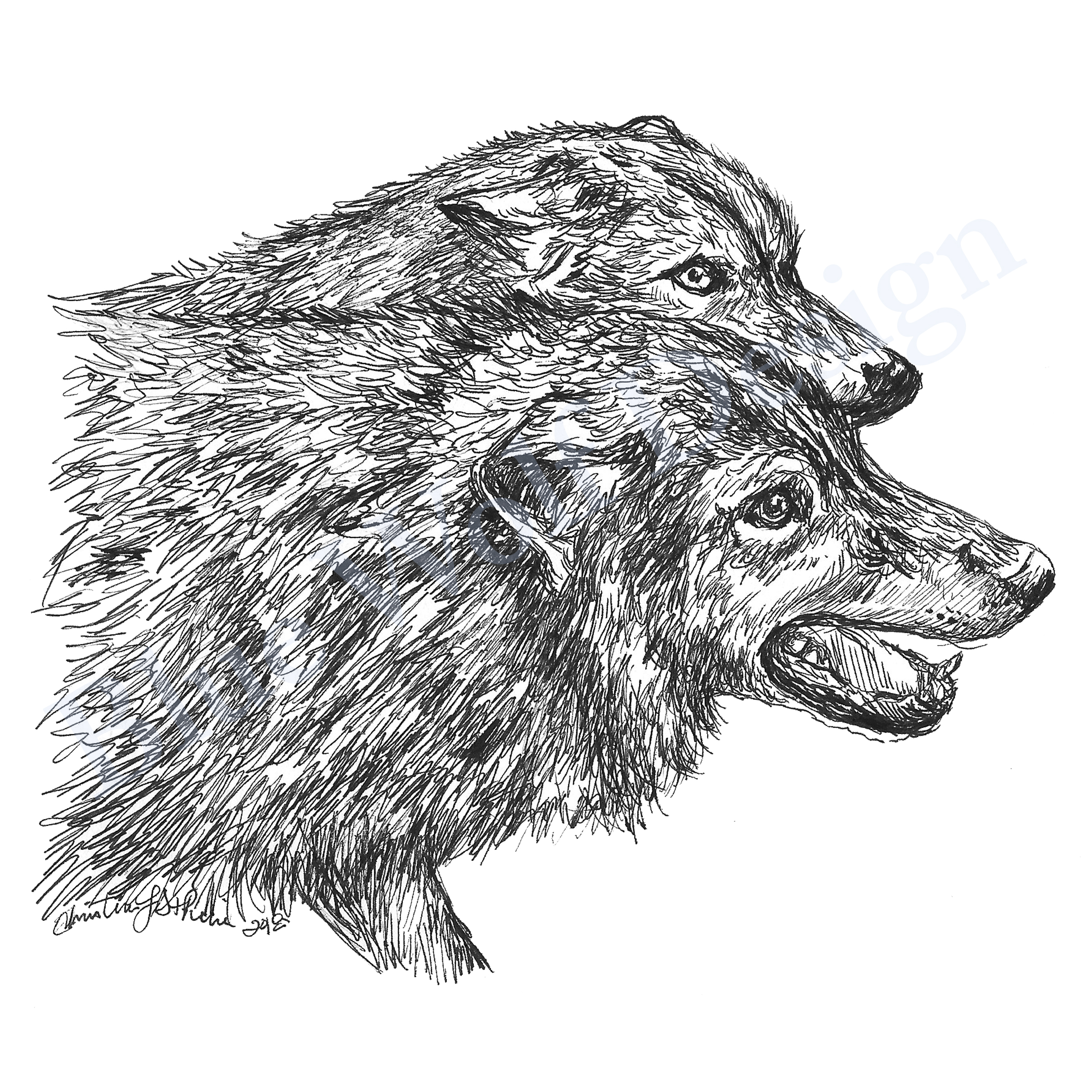 Together_ Blue Wolf Design
