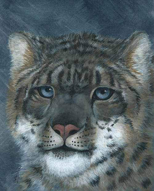 Snow Leopard _ Blue Wolf Design