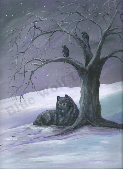 Purple Night _ Blue Wolf Design