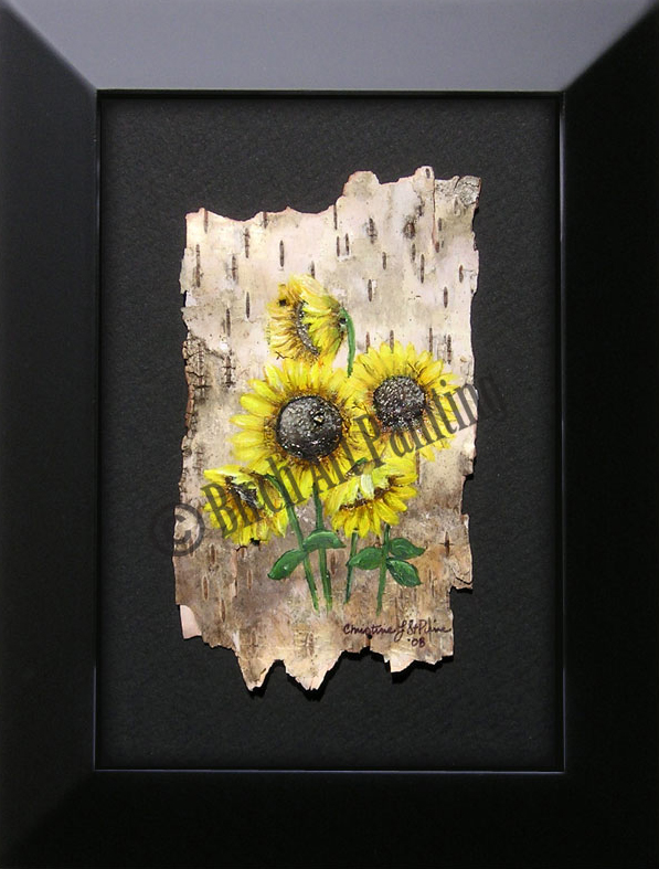 Sunflowers_Birch Art Painting
