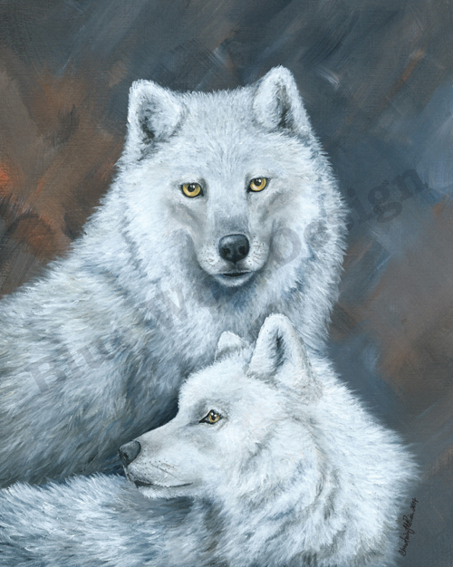 Arctic Wolf Pair _ Blue Wolf Design