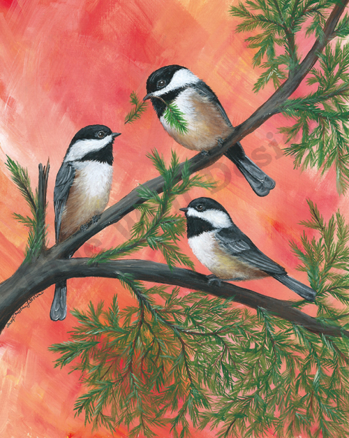 Chickadee Trio _ Blue Wolf Design