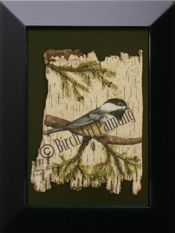 Chickadee/Birchartpainting