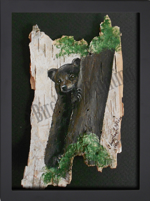 Baby Bear_Birch Art Painting