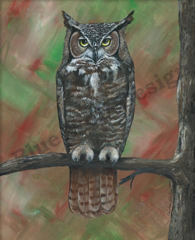 Great Horned Owl _ Blue Wolf Design