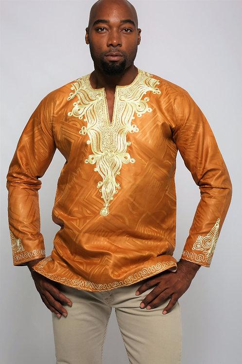 Gold and cream Dressed Shirt