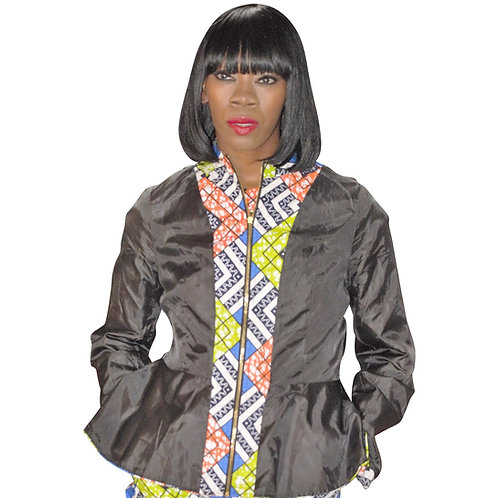 Ankara Suit Jacket, Multi colors, Reversible