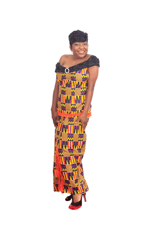 Gorgeous off should kente print top