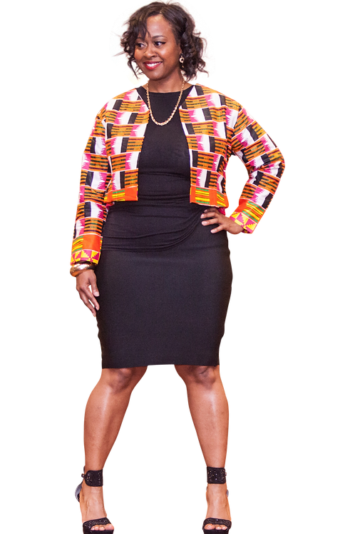 Ankara Jacket with long sleeves