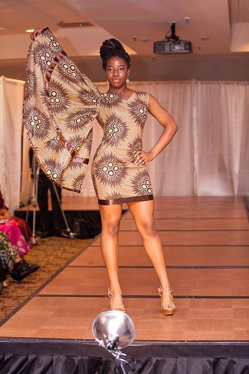 Brown Ankara dress