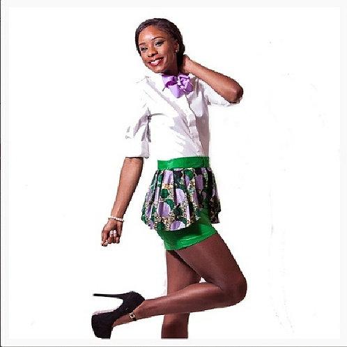 Green Ankara Skirt