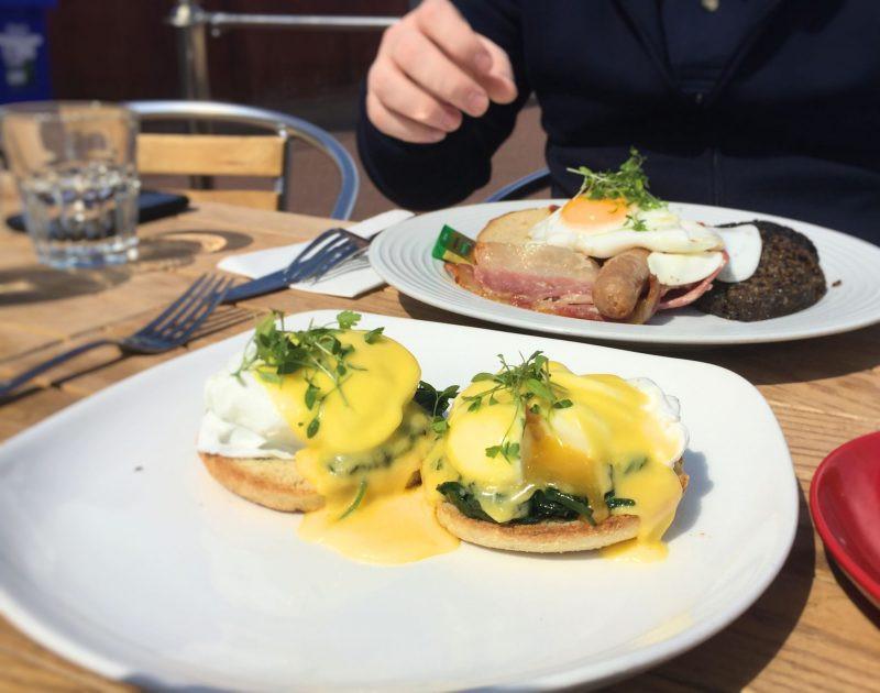 eggs florentine portobello