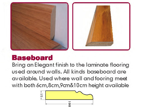 Laminate Trim - Baseboard - Matching Colo