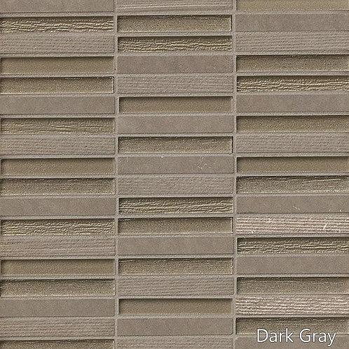 Tessuto Linear Glass &Stone Blend Mosaic - 6 Colors