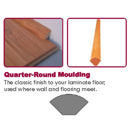 Laminate Trim - Quarter Round - Matching Color