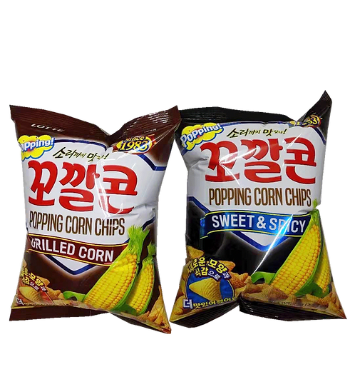 Lotte Popping Corn Chips Kkokkalcorn