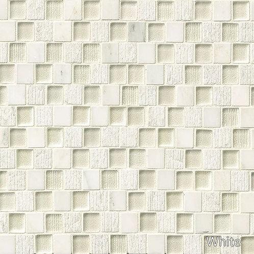 Tessuto Glass Offset Brick Pattern Mosaic - 6 Colors