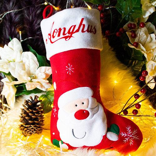 Red Santa Christmas Stocking