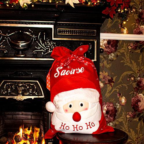 Red Santa Christmas Sack