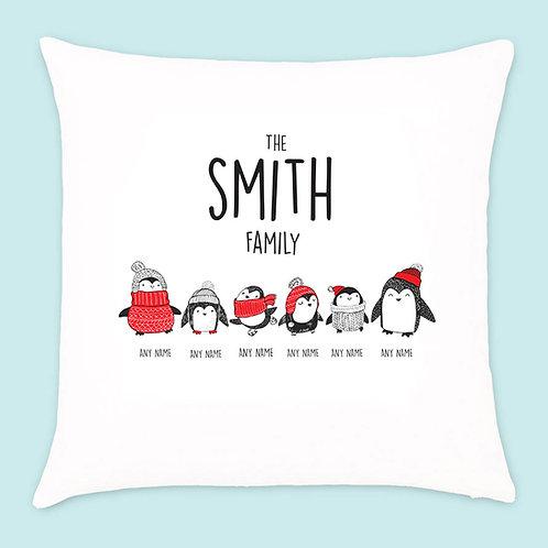 Christmas Penguin Cushion 6 Names