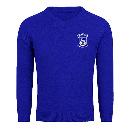 Adult Knockrooskey N.S. Knitted V-Neck Jumper