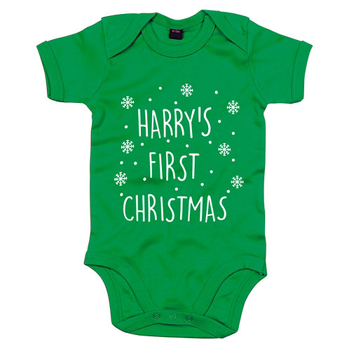 Personalised Baby Vest Green