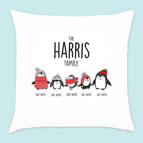 Christmas Penguin Cushion 5 Names