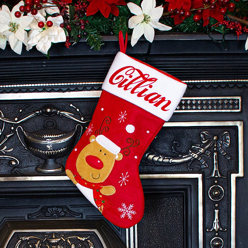 Red Rudolph Stocking