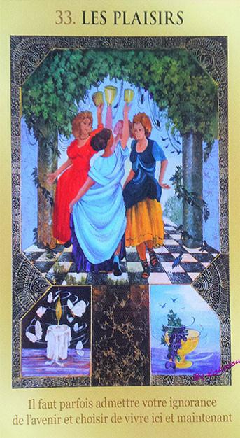 le jeu de votre destin, carte 33, les plaisirs, lemondedekokolou.com