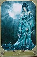 oracle du messager, carte 13 suivez la lune