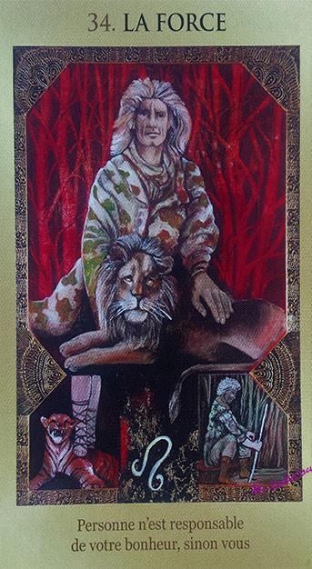 le jeu de votre destin, carte 34, la force, lemondedekokolou.com