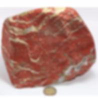 jaspe rouge brute